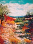 Wash Pastels - Along the Wash by M Diane Bonaparte
