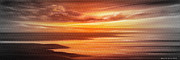 Sunset Prints Mixed Media Posters - Along the Way - Panoramic Sunset Poster by Gina De Gorna