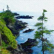 Digitally Enhanced Photographs - Along the West Coast 1 by David Lane
