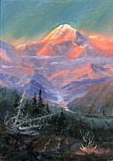 Mckinley Painting Prints - Alpen Glow Print by Kurt Jacobson