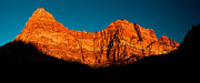 Zion National Park Framed Prints - Alpenglow in Zion Canyon Framed Print by Greg Nyquist