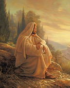 Contemplating Prints - Alpha and Omega Print by Greg Olsen
