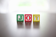 Spelling Framed Prints - Alphabet Blocks Spelling The Word joy Framed Print by Steven Errico