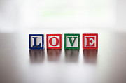 No Love Posters - Alphabet Blocks Spelling The Word love Poster by Steven Errico