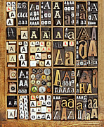 Large Group Of Objects Art - Alphabet by Daryl Benson