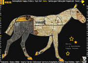 Nyigf Licensing Mixed Media - Alphabet Horse Juvenile Licensing Art by Anahi DeCanio