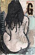 Female Mixed Media - Alphabet nude G by Joanne Claxton