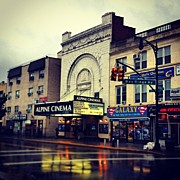 Alpine Cinema/bay Ridge #bayridge Print by Shun Takino
