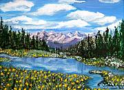 Mountains And Lake Prints - Alpine Lake Colorado USA Print by Nancy Rucker