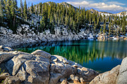 Mts Framed Prints - Alpine Lake Framed Print by Utah Images