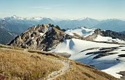 Mt Baker Prints - Alpine Mountain  Trail Print by Marlene Ford