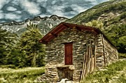 Alpine Digital Art Framed Prints - Alpine Ruins Framed Print by Jeff Kolker