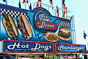 Hot Dogs Prints - Als All American Diner Print by Paul Ward