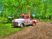 White Truck Framed Prints - Als Mobile Framed Print by Jimmy Ostgard