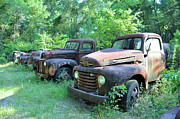 Junk Posters - Als Used Trucks Poster by Jan Amiss Photography