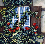 Scott Nelson Framed Prints - Alsace Window Framed Print by Scott Nelson