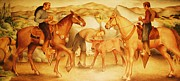 Spanish Horses Paintings - Alta California Rancheros by Pg Reproductions