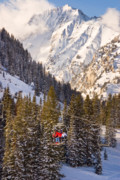 Peaks Photo Posters - Alta Ski Resort Wasatch Mts Utah Poster by Utah Images