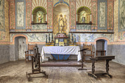 Statue Portrait Prints - Altar At Mission La Purisima State Print by Douglas Orton