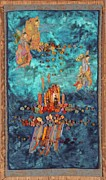 Art Quilt Tapestries - Textiles Framed Prints - Altar at Sea Framed Print by Roberta Baker
