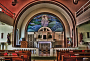 St Elizabeth Prints - Altar of St. Elizabeth of Hungary Catholic Church Print by Bert Byerley