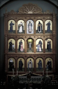 Saints Prints - Altar Screen Cathedral Basilica of St Francis of Assisi Santa Fe NM Print by Christine Till