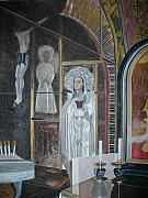 Sepulchre Paintings - Altar Site Of The Crucifixtion by Palma T Poochigian