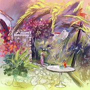 Garden Drawings - Altea La Vieja in Spain 16 by Miki De Goodaboom