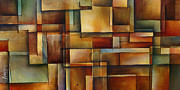 Rectangles Paintings - Alter the Truth by Michael Lang
