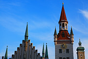 "Town Square Prints - ""altes Rathaus"" In Munich, Germany Print by Nisa and Ulli Maier Photography"