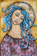 Christian Art . Devotional Art Painting Prints - Altessa Print by Rain Ririn