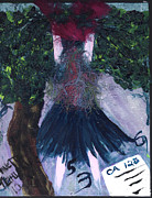 Greeting Cards Ovarian Cancer Painting Prints - Althea Awaits her CA 125 report Print by Annette McElhiney