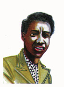 Althea Drawings - Althea Gibson by Emmanuel Baliyanga