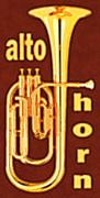 Horn Digital Art Prints - Alto Horn Print by David G Paul