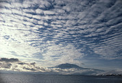 Erebus Photos - Altocumulus Cloud Cover Over Mt Erebus Volcano by Doug Allan.