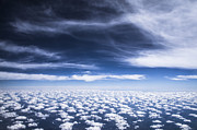 Cloud Prints - Altocumulus clouds in autumn sky horizontal Print by Ellie Teramoto