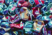 Friendly Digital Art - Aluminum Cans - Recyclables by Steve Ohlsen