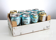 Cans Art - Aluminum Cans For Recycling by Photo Researchers, Inc.