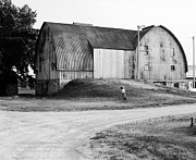 Aluminum Gothic Arch Barn  Print by Jan Faul