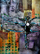 Dragonfly Mixed Media - Always a Star by Vickie Warner