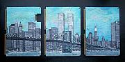 New York City Twin Towers Mixed Media Acrylic Prints - Always Acrylic Print by Cary Singewald