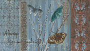 Blue Brown Paintings - Always Kiss Me Goodnight by Debbie DeWitt