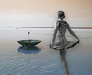 Floating Girl Digital Art - Always Looking to the Light by Betsy A Cutler East Coast Barrier Islands
