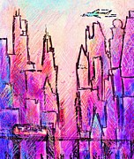 Old Town Digital Art - AM Chicago by Rachel Christine Nowicki