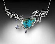 Handcrafted Jewelry - Am I blue by Jeanne  Rhodes-Moen