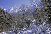 Rudi Prott Framed Prints - Ama Dablam in Winter Framed Print by Rudi Prott