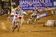 Supercross Framed Prints - AMA Supercross in San Diego Framed Print by Daniel  Knighton