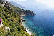 Amalfi Coast At Conca Dei Marini Print by George Oze