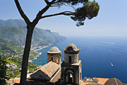 European Union Prints - Amalfi Coast Scenic with an Old Church Print by George Oze
