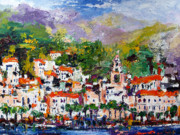 Amalfi Paintings - Amalfi Italy by Ginette Fine Art LLC Ginette Callaway